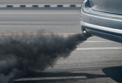 smoke from car exhaust